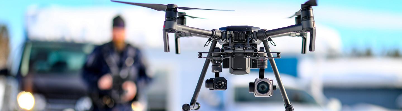 Drone on poliisille tarkeä työkalu.